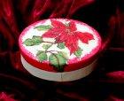 weihnachtliche ovale Pappmache Geschenkdose Weihnachtsstern