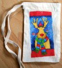 small christmas sac funny moose