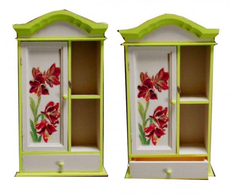 shabby chic Blumen Schubladenschränkchen Amaryllis