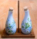 zarte florale Essig und Ölfläschchen Winden