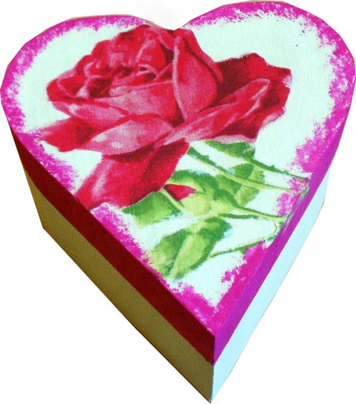romantische Herz Geschenkdose rote Rose