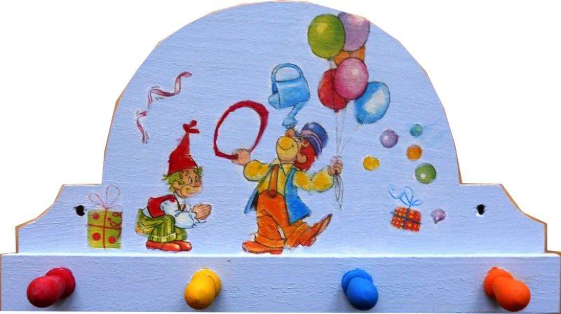 Kindergarderobe lustiger Clown