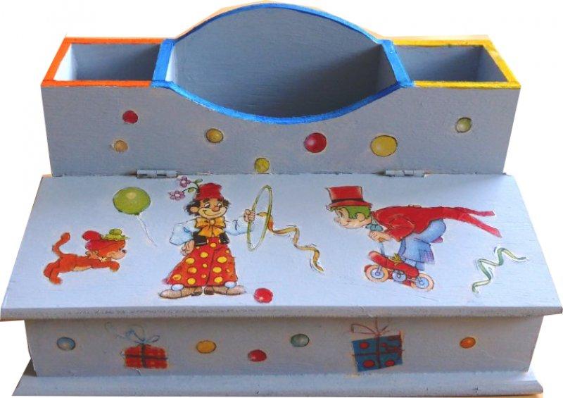 fröhliche Clown Utensilo - / Stiftebox