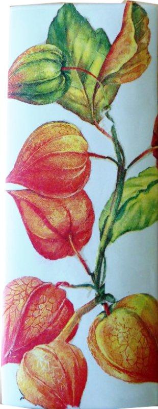 floraler Heizungsluftbefeuchter Lampionblumen
