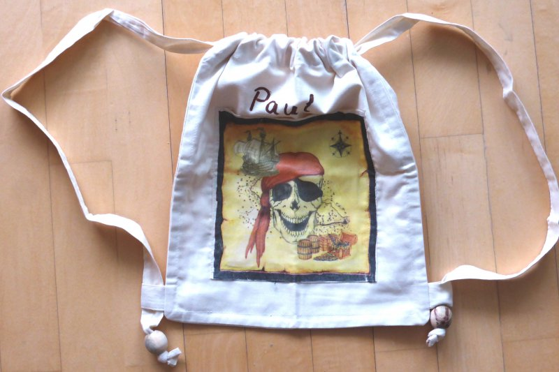 Cooler Piraten Rucksack / Kinderrucksack