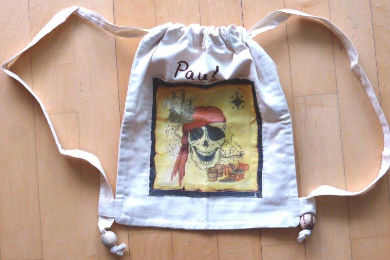 cool cotton rucksack pirate