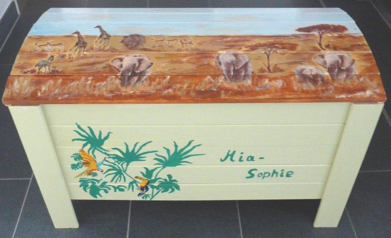 Holztruhe - Wildlife