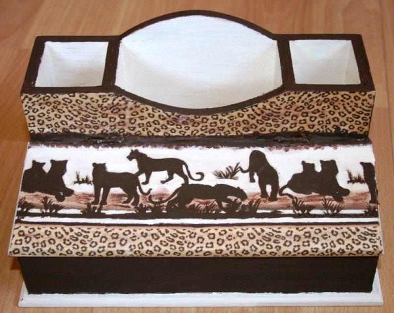 Afrika Utensilo - / Stiftebox Leoparden