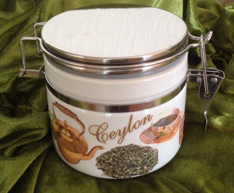 kleine Tee Keramik Vorratsdose Ceylon