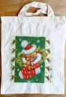 originelle Weihnachtstasche Weihnachtsbär in Socke